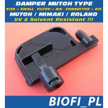 Damper MUTOH TYPE - SIZE = SMALL, FILTER = BIG, CONNECTOR = BIG, UV + Solvent Resistant