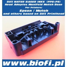 DX5 Water Based Inks Adapter, Manifold Mutoh Base (PPE+PS)