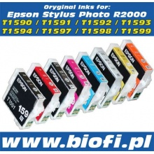 Oryginalny Tusz EPSON R2000 - T1597 - Red