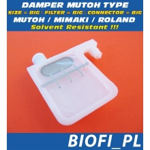 Damper MUTOH TYPE - SIZE = BIG, FILTER = BIG, CONNECTOR = BIG, Solvent Resistant