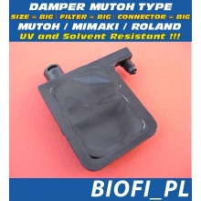 Damper MUTOH TYPE - SIZE = BIG, FILTER = BIG, CONNECTOR = BIG, UV + Solvent Resistant