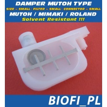 Damper MUTOH TYPE - SIZE = SMALL, FILTER = SMALL, CONNECTOR = SMALL, Solvent Resistant