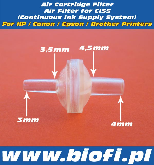 Air Cartridge Filter Air Filter for CISS For HP / Canon / Epson / Brother Printers